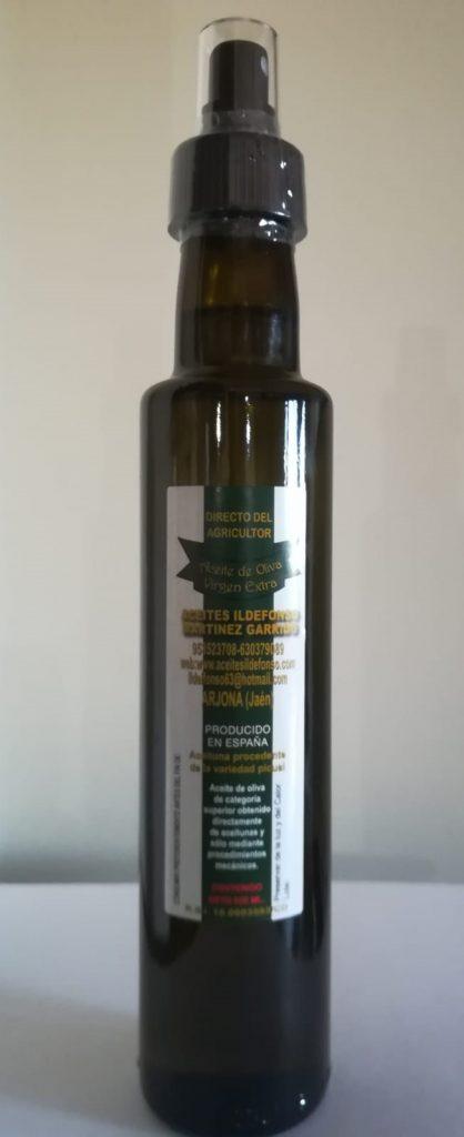 Dorica Spray de 250 Ml. de Aceite de Oliva Virgen Extra.